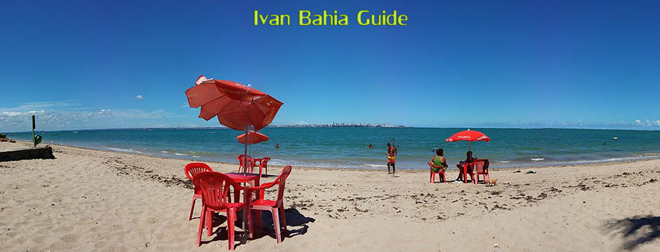 Itaparica, beech view at Salvador along Bay of All Saints, Brazil - Ivan Bahia Guide