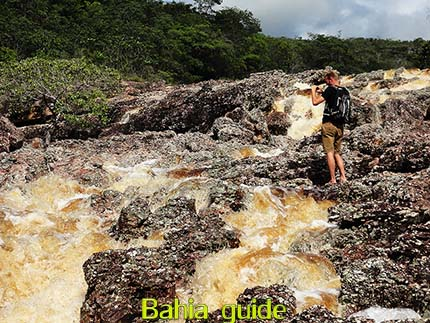 Strong currents on the river of Lençois while visiting Chapada Diamantiana national park with Ivan Salvador da Bahia & official tour guide