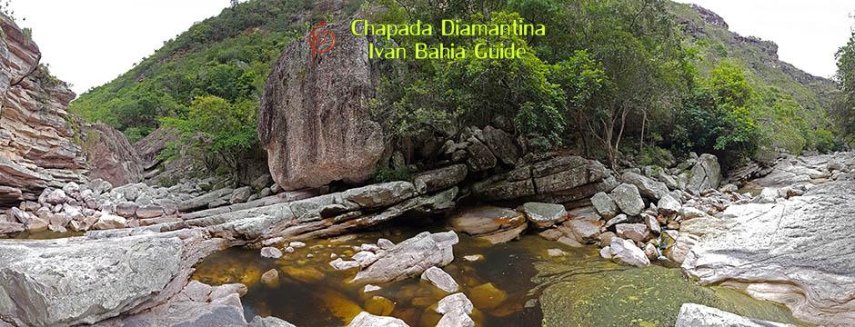Chutes du Sossego au Parc National Chapada Diamantina avec Ivan Bahia Guide