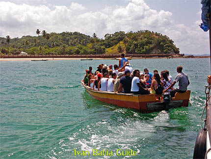 sailing to the islands Frades and Itaparica in the All Saint's Bay / Baia de Todos os Santos (second largest bay or the world) during the island trip with Ivan Salvador da Bahia & official tour guide
