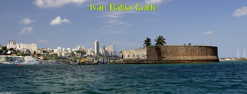 Exiting the port of Salvador while sailing to the island Frades in the All Saint's Bay / Baia de Todos os Santos (second largest bay or the world) during the island trip with Ivan Salvador da Bahia & official tour guide