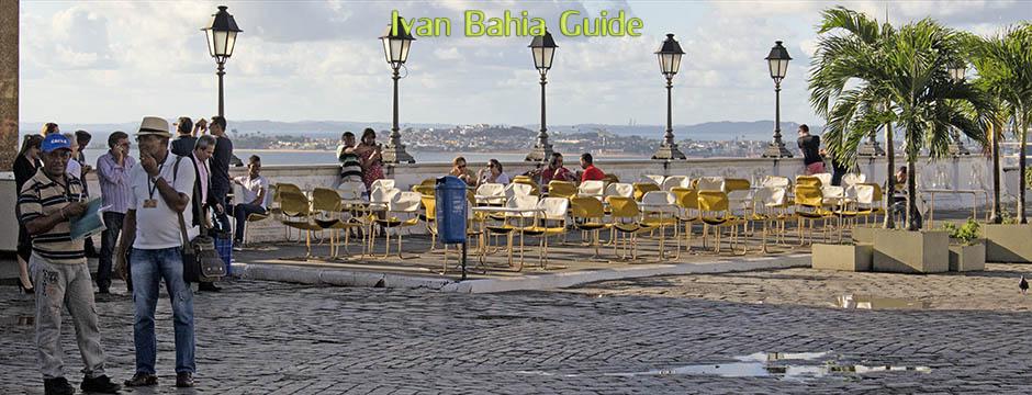 Panoramablick von der Cidade Alta aus, mit Ivan Bahia Guide, Reiseführer in Salvador, Brasilien