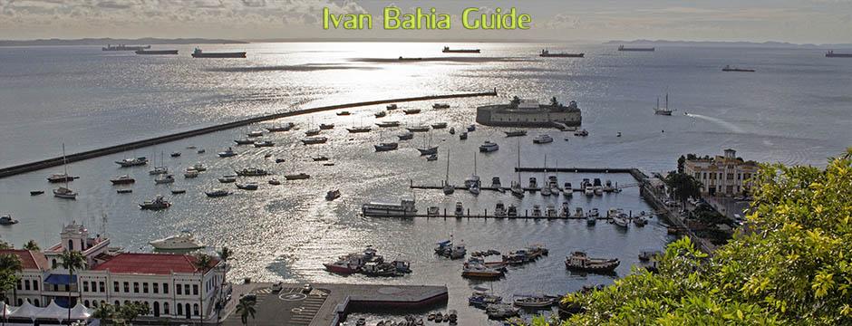 Blick auf Allerheiligen Bucht die zweitgrößte Bucht der Welt, mit Ivan Bahia Guide, Reiseführer in Salvador, Brasilien