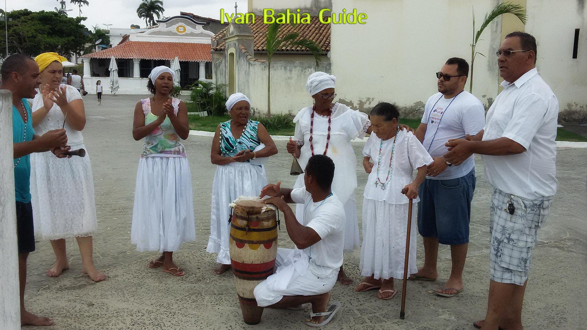 Candomblé offering to the goddess Yemanja in Monte Serrat - with Ivan's Salvador da Bahia & Chapada Diamantiana national park's official tour guide