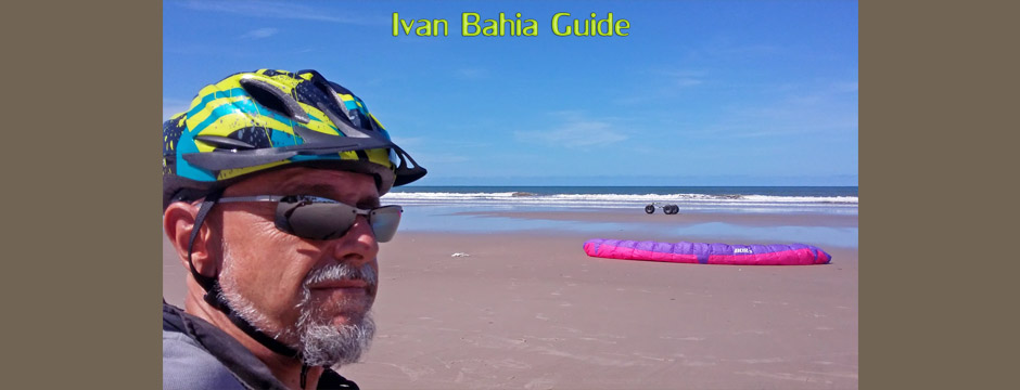 Kite-buggying  with a member of the BBA Belgian Buggy Association (B1103), expat, along the impressive coastal area of Bahia in North East Brazil with Ivan Bahia Tour Guide, a dream for land sailing