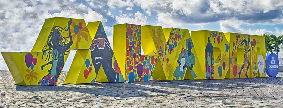 Salvador, first capital of Brazil, city logo - to be visited off the beaten tracks with your official Ivan Bahia Tour-Guide (coll. Fernando, Bingre, Marcio, Bahiametisse)