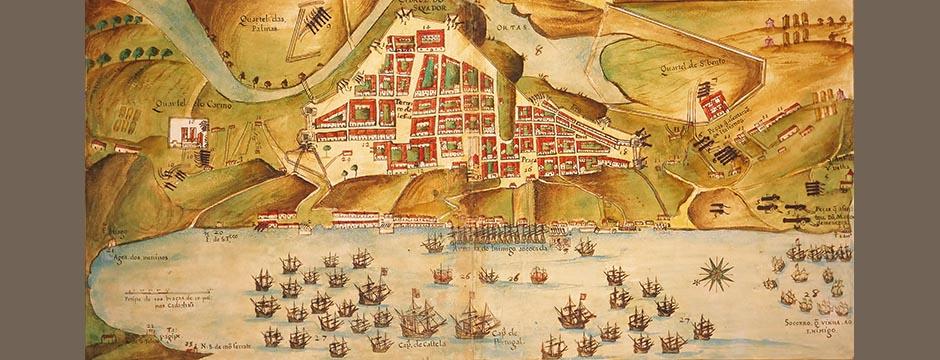 Salvadors Stadtzentrum in den 1620er Jahren, mit Ivan Bahia Guide, Reiseführer in Salvador, Brasilien